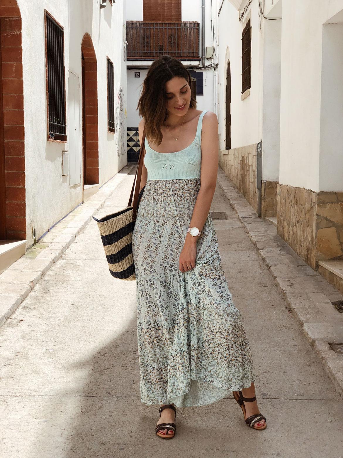 vestido largo sitges